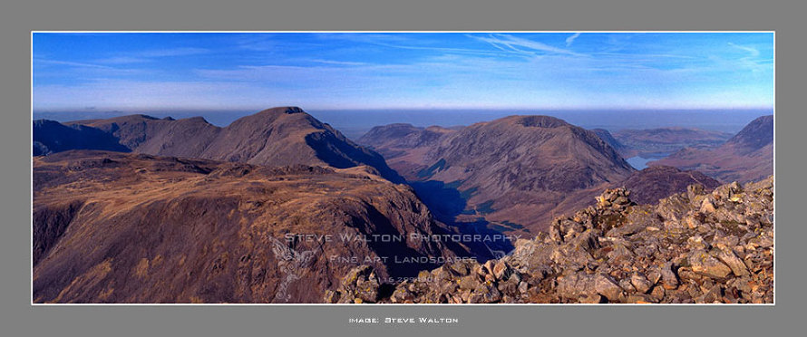 From Great Gable, Kirk Fell, Pillar, Steeple, High Stile, HaystacksEnnerdale and Buttermere.