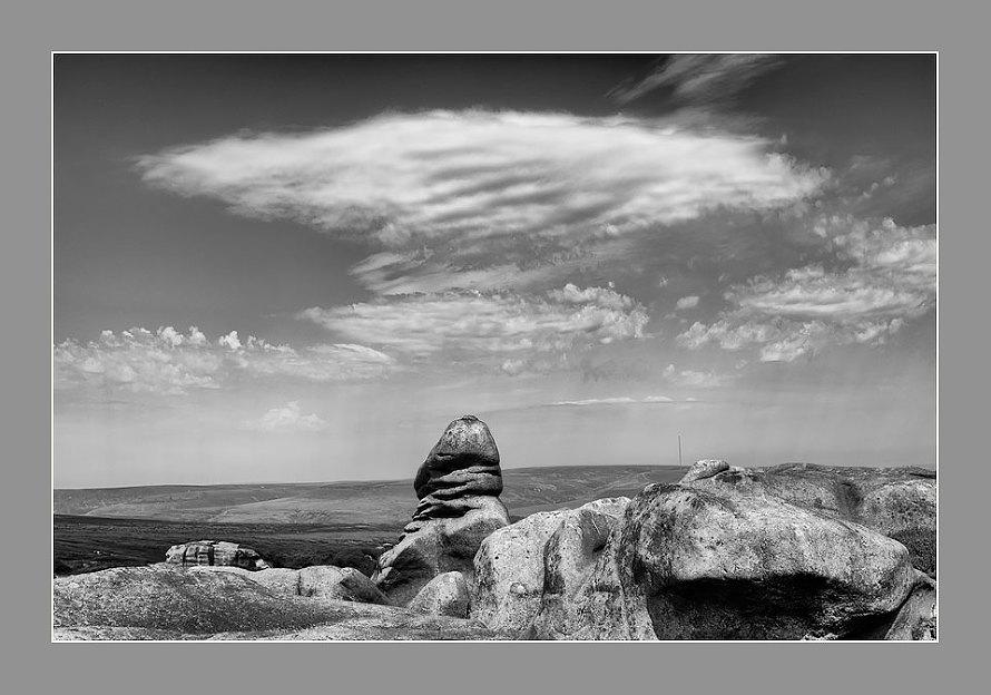 Bleaklow rock formations.