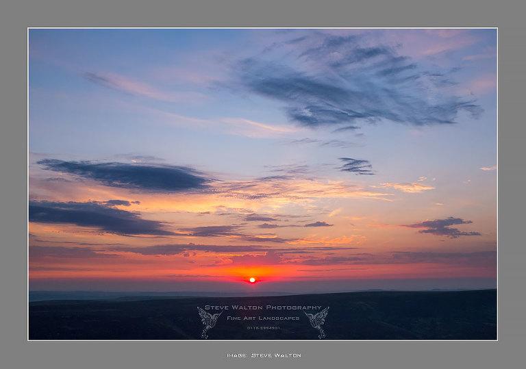 Bleaklow sunrise from Barrow Stones