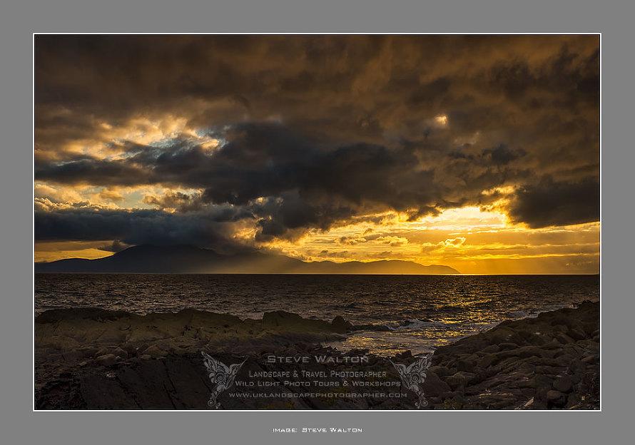 Arran From Portencross on the North Ayrshire coast