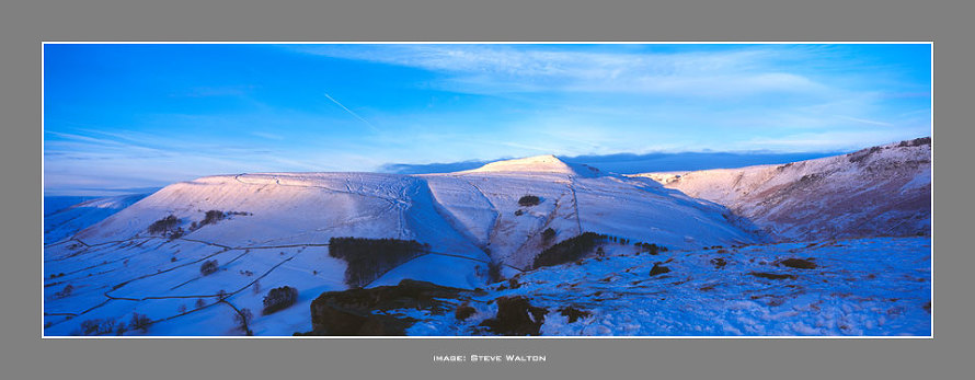 From The Nab above Edale in Winter.