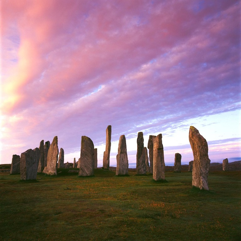 Callanish standing stones at sunrise