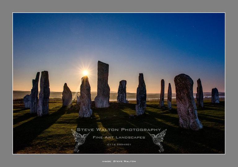 Supermoon at Callanish Standing Stones