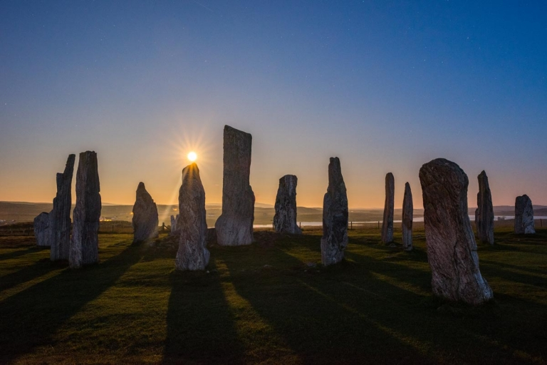 Supermoon at Callanish standing stones
