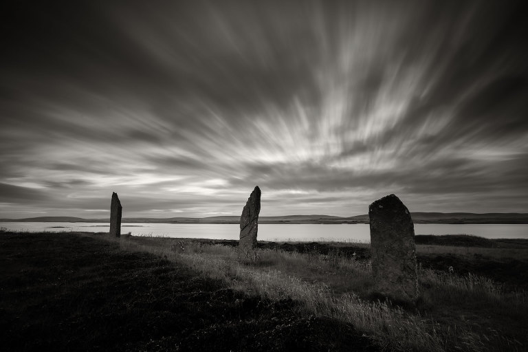 Ring of Brodgar stone circle at sunrise